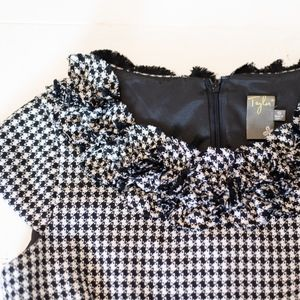 Macy's Dresses - Macy's Taylor Black and White Houndstooth Dress